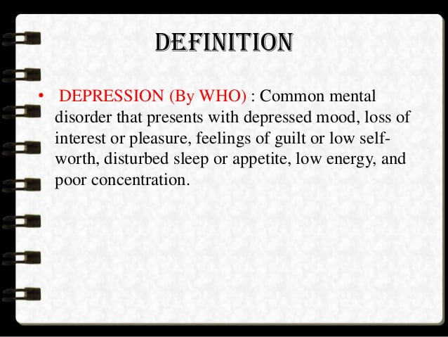 what is depression 1